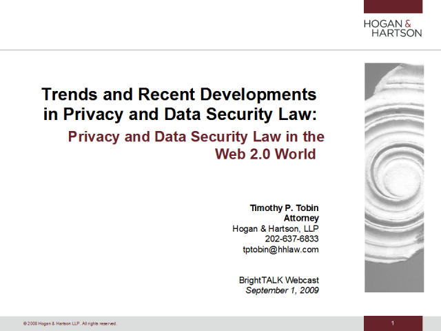 Privacy and Data Security Law in the Web 2.0 World