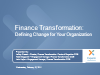 Finance Transformation: Defining Change for Your Organization