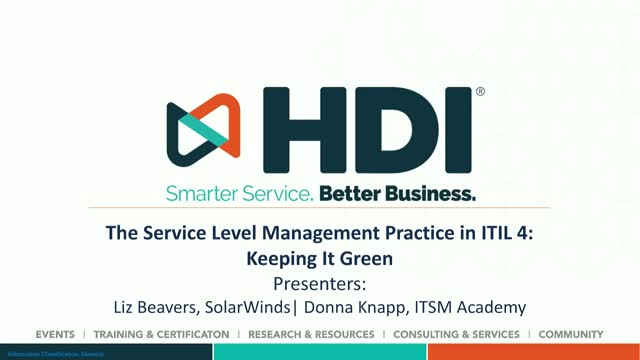 The Service Level Management Practice in ITIL 4: Keeping It Green
