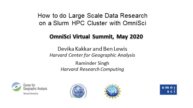 How to do Large Scale Data Research on a Slurm HPC Cluster with OmniSci