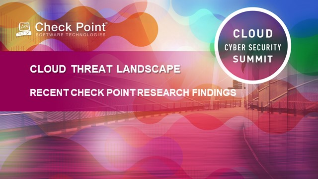Cloud Threat Landscape: Recent findings from Check Point Research