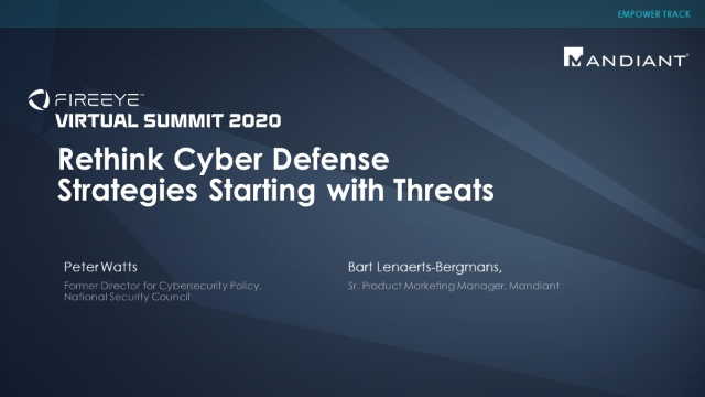 Rethink Cyber Defense Strategies Starting with Threats