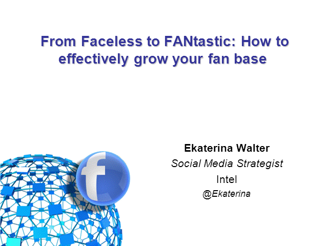 From Faceless to FANtastic: How to effectively grow your fan base