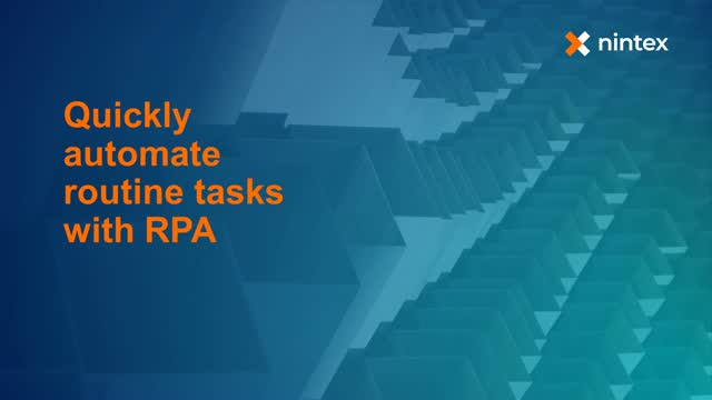 Quickly Automate Routine Tasks with RPA
