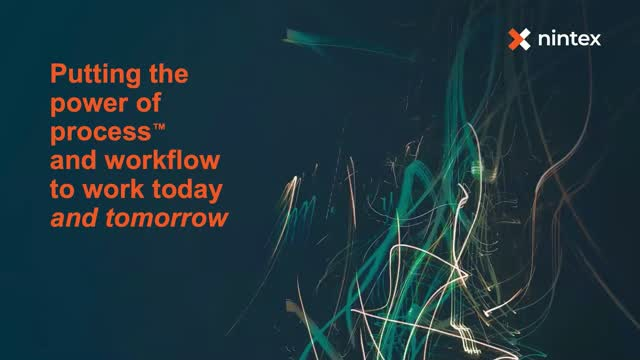Putting the Power of Process and Workflow to Work Today and Tomorrow