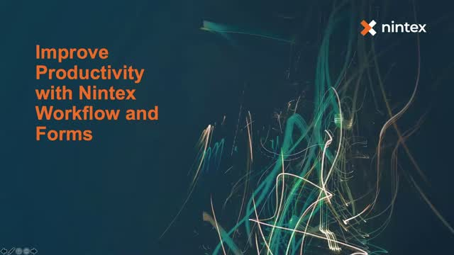 Improve Productivity with Nintex Workflow and Forms