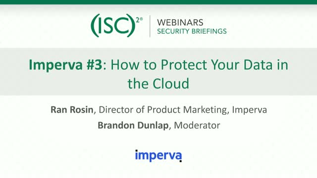 Imperva #3: How to Protect Your Data in the Cloud