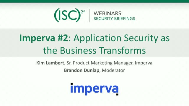 Imperva #2: Application Security as the Business Transforms