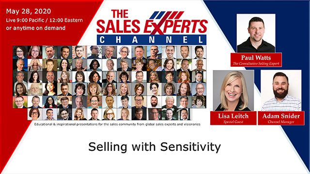 Selling with Sensitivity