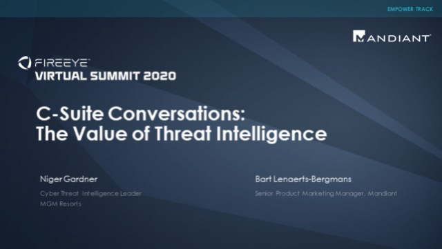 C-Suite Conversations: The Value of Threat Intelligence