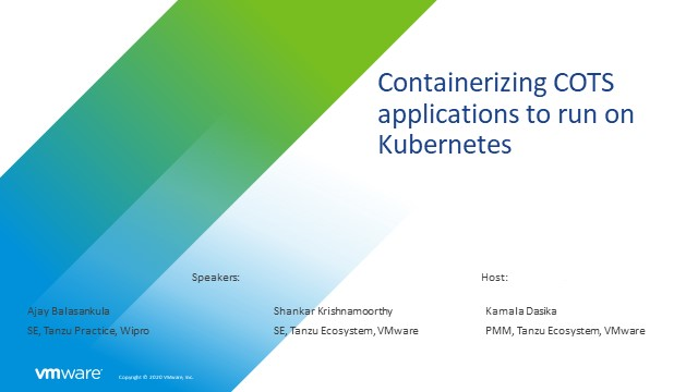 Containerizing COTS applications to run on Kubernetes