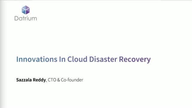 Innovations In Cloud Disaster Recovery