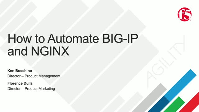 How to Automate NGINX and BIG IP Technologies