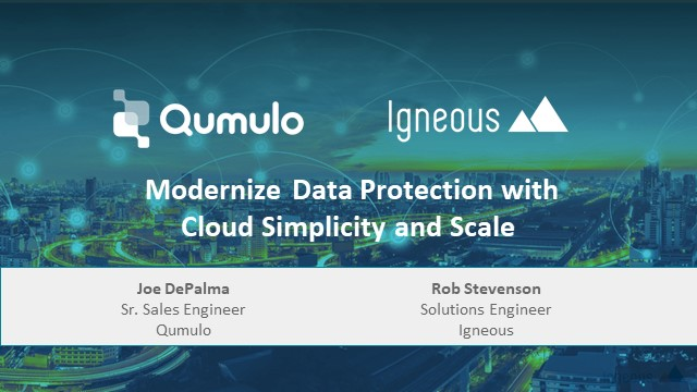 Modernize Data Protection with Cloud Simplicity and Scale
