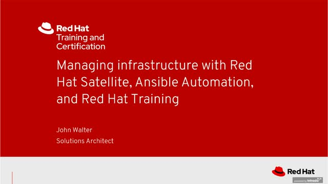 Managing infrastructure with Satellite, Ansible, and Training(v2)