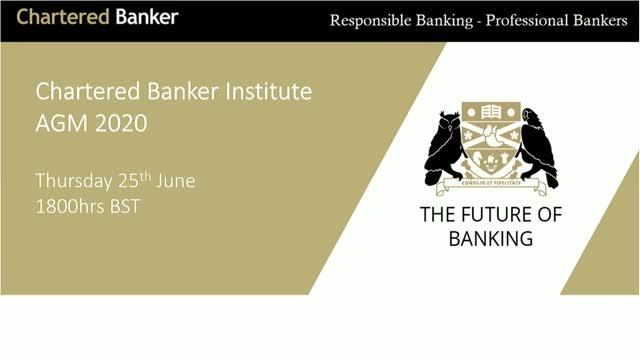 Chartered Banker Institute AGM 2020