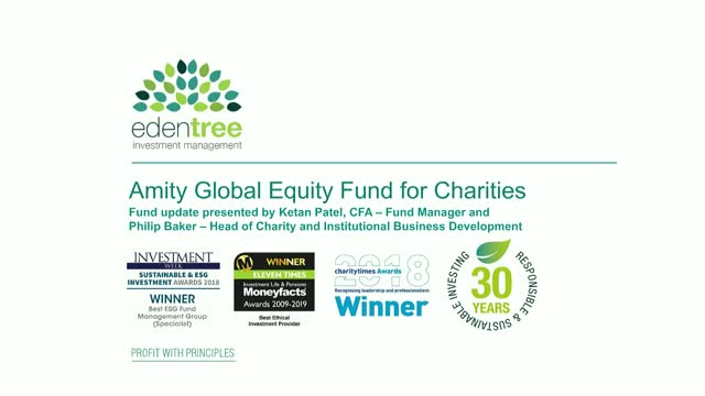 Amity Global Equity Fund for Charities Update
