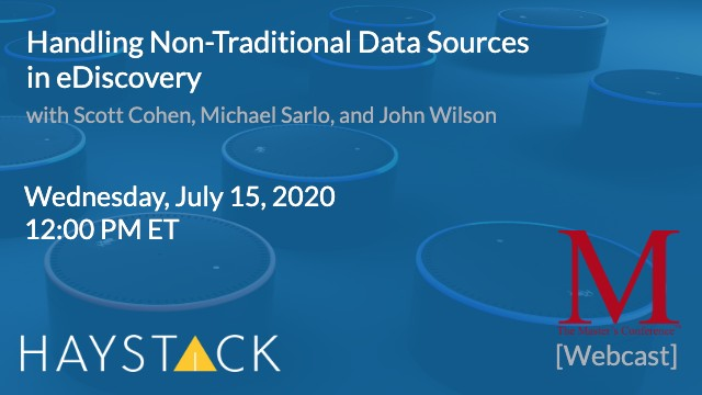 Handling Non-Traditional Data Sources in eDiscovery