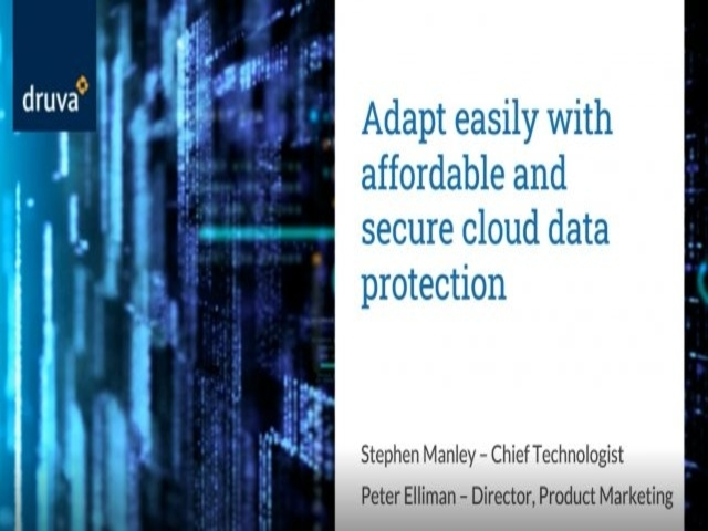 Adapt easily with affordable and  secure cloud data protection