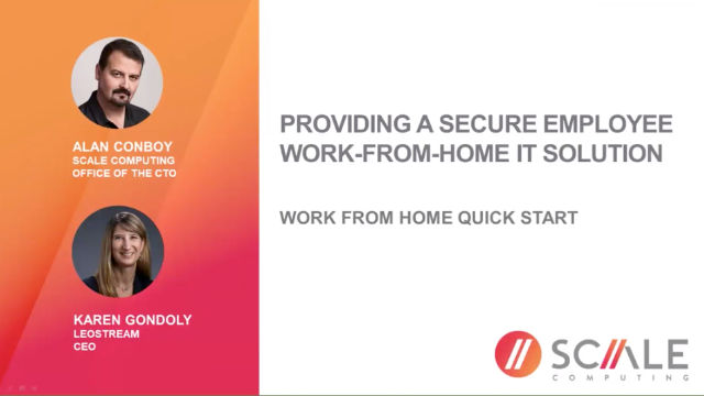 Providing Secure Employee Work-From-Home IT Solutions