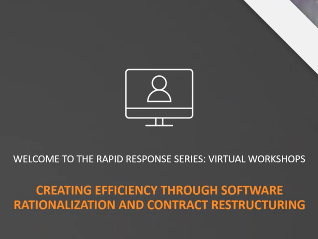 Creating Efficiency Through Software Rationalization and Contract Restructuring