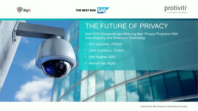 The Future of Privacy – How SAP Companies are Maturing their Privacy Programs