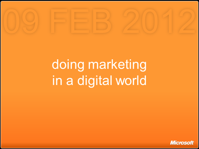 Doing Marketing in a Digital World – A Framework for Success