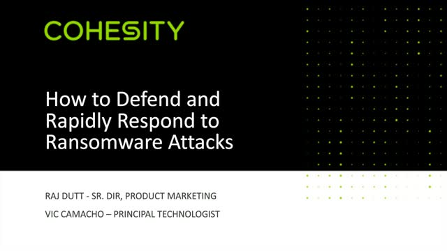 How to Defend and Rapidly Respond to Ransomware Attacks