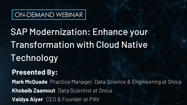 SAP Modernization: Enhance your Transformation with AWS Cloud Native Technology
