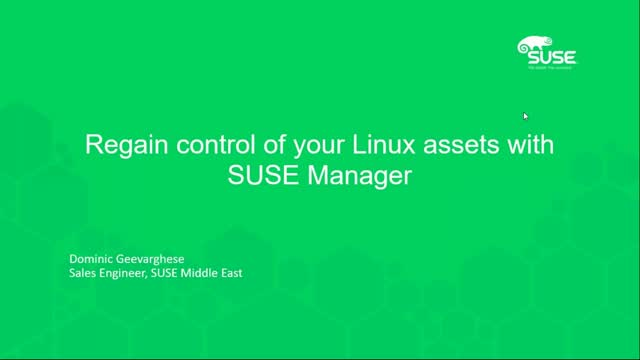 Regain control of your Linux assets with SUSE Manager