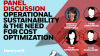 Operational Sustainability and the need for Cost Optimization