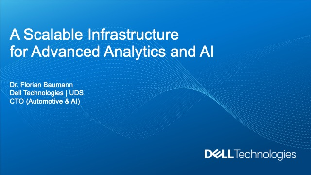 A Scalable Infrastructure for Advanced Analytics and AI