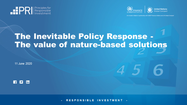 The Inevitable Policy Response - The value of nature-based solutions