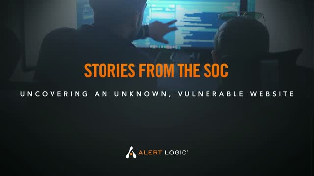 Stories from the SOC: Identifying an unknown, vulnerable website