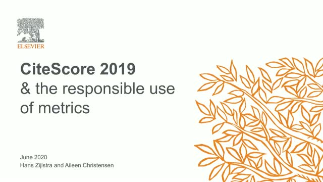Researchers: CiteScore 2019 and the responsible use of metrics