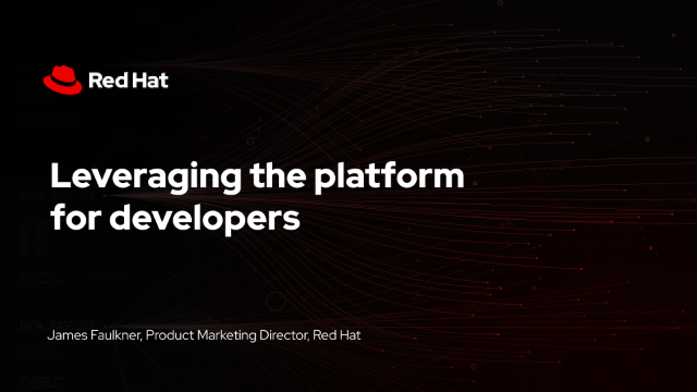 Leveraging the platform for developers