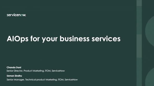 AIOps for your business services