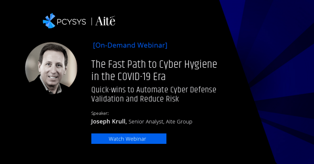 The Fast Path to Cyber Hygiene in the COVID-19 Era
