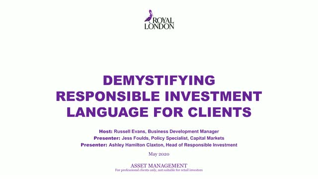 Demystifying responsible investment language for clients