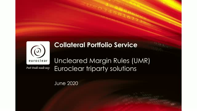 UMR Implementation – Collateral Portfolio Model