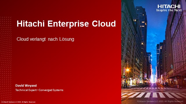 Hitachi Enterprise Cloud
