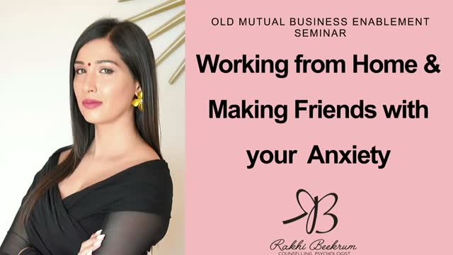 Working from home: Making friends with anxiety