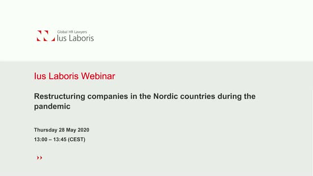 Restructuring companies in the Nordic countries during the pandemic