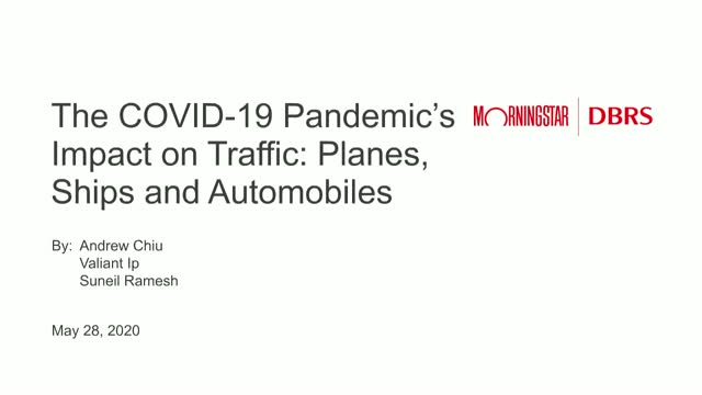 Planes, Ships & Autos: How Transportation Volumes Have Fared in the Pandemic
