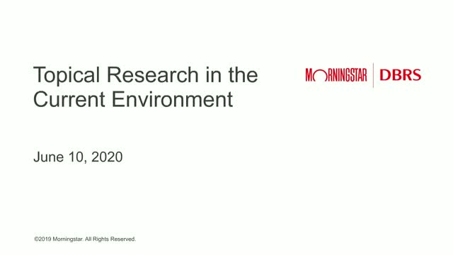 CMBS Webinar -  Topical Research in the Current Market Environment