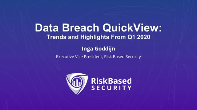 Data Breach QuickView - Trends and Highlights From Q1 2020