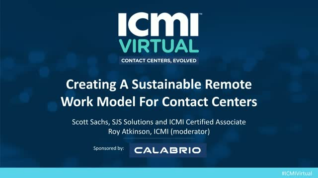 Creating a Sustainable Remote Work Model for Contact Centers