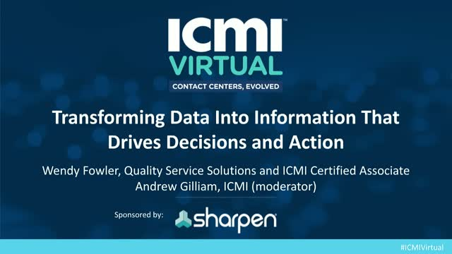 Transforming Data Into Information That Drives Decisions and Action