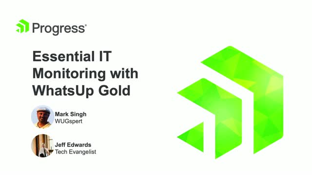 Essential IT Monitoring with WhatsUp Gold