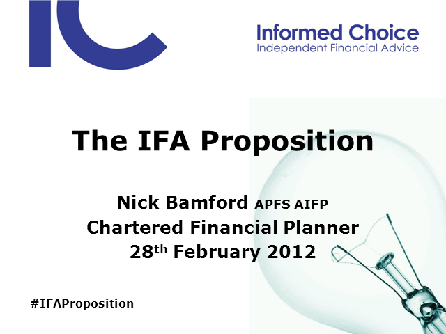 The IFA Proposition